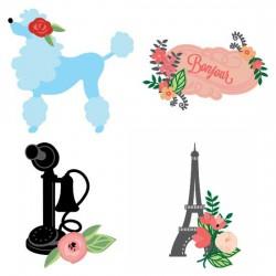 Pretty Parisian Posies - CS