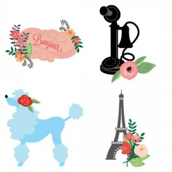 Pretty Parisian Posies - GS