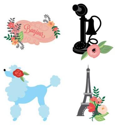 Pretty Parisian Posies - GS