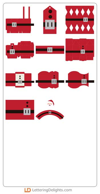 Santa Spirit, Santa Crackers, Christmas projects, Christmas crafts, ilove2cutpaper, LD, Lettering Delights, svg, cutting files, templates