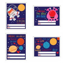 Love You To The Moon - Lip Balm Cards - PR