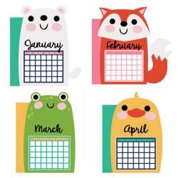 Calendar Animals - Planner Dividers - CP