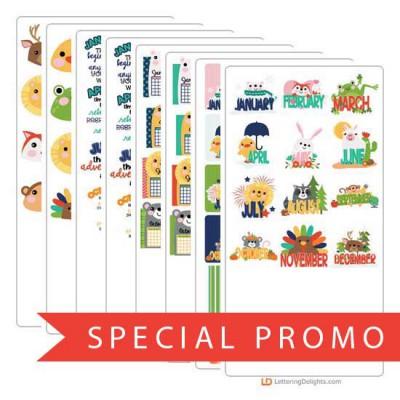 Calendar Animals - Promotional Bundle