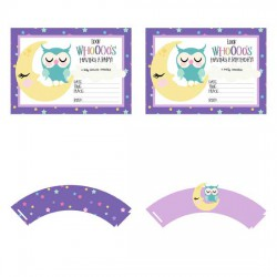 Night Owls - Party Printables - PR