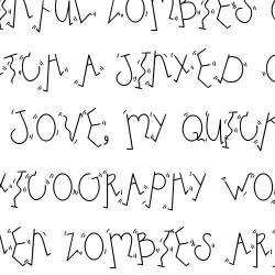 LD Dancing Letters - Font