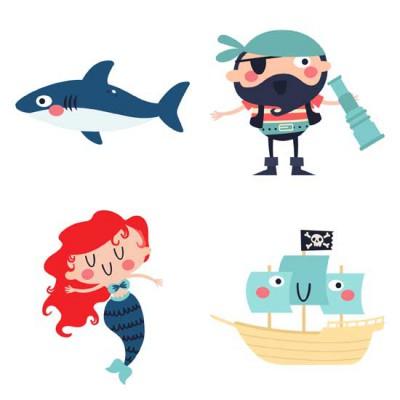 Ships Ahoy - Pirates - GS