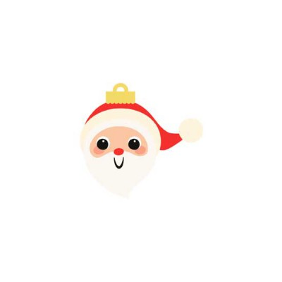 Storybook Christmas - Santa Ornament - GS