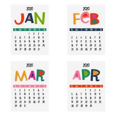 Life In Rainbows - 2020 Calendar Cards - PR
