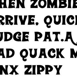 ZP Wonky Font - FN