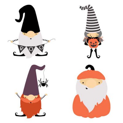 Fall Gnomes - Halloween - GS
