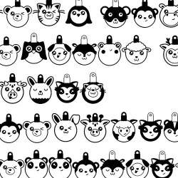 DB Kawaii Christmas - Animal Ornaments - DB