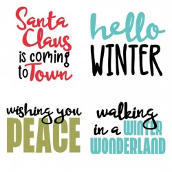 Merry Snowglobes - Sayings - GS