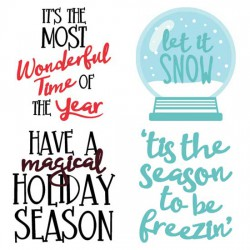 Merry Snowglobes - Sayings - CS