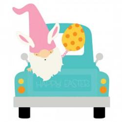Spring Gnomes - Easter - Truck - CS