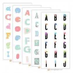 Pretty Pastels - Alphabet Bundle