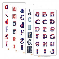 Red, White, and Blue - Alphabet Bundle