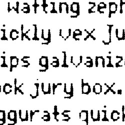 LD Dot Matrix - Font