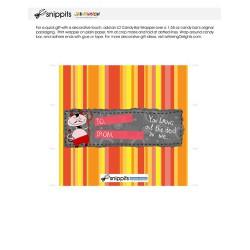 Devilish Valentine - Candy Bar Wrapper - PR