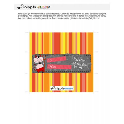 Devilish Valentine - Candy Bar Wrapper - PR