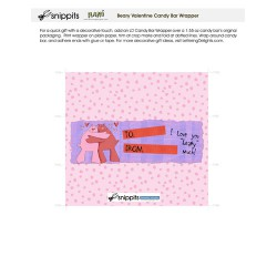 Beary Valentine - Candy Bar Wrapper - PR