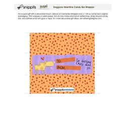 Doggone Valentine - Candy Bar Wrapper - PR