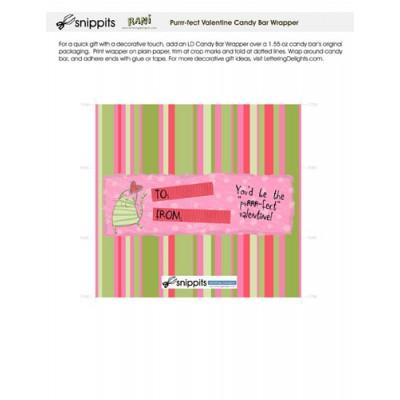 Purrr-fect Valentine - Candy Bar Wrapper - PR