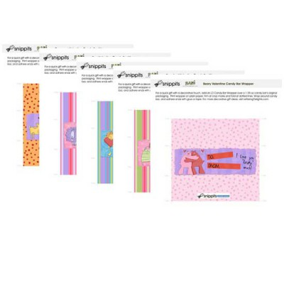 Rani's Valentine Candy Bar Wrapper Bundle