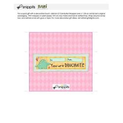 Dinomite - Candy Bar Wrapper - PR