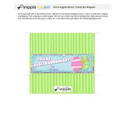 Eggstraordinary - Candy Bar Wrapper - PR