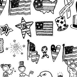 DB Patriotic Doodles - DB