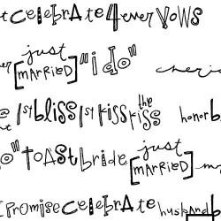 DB Wedding Doodle Words - DB