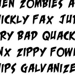 LD Horror Movie - Font
