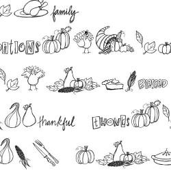 DB Thanksgiving Doodles - DB