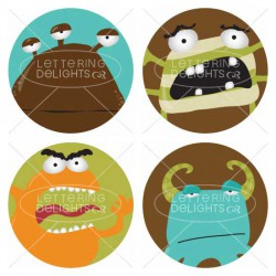 Monster-licious - Cupcake Toppers - PR