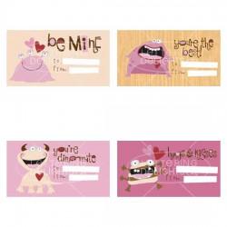 Monster Love - Kid's Valentine Cards - PR